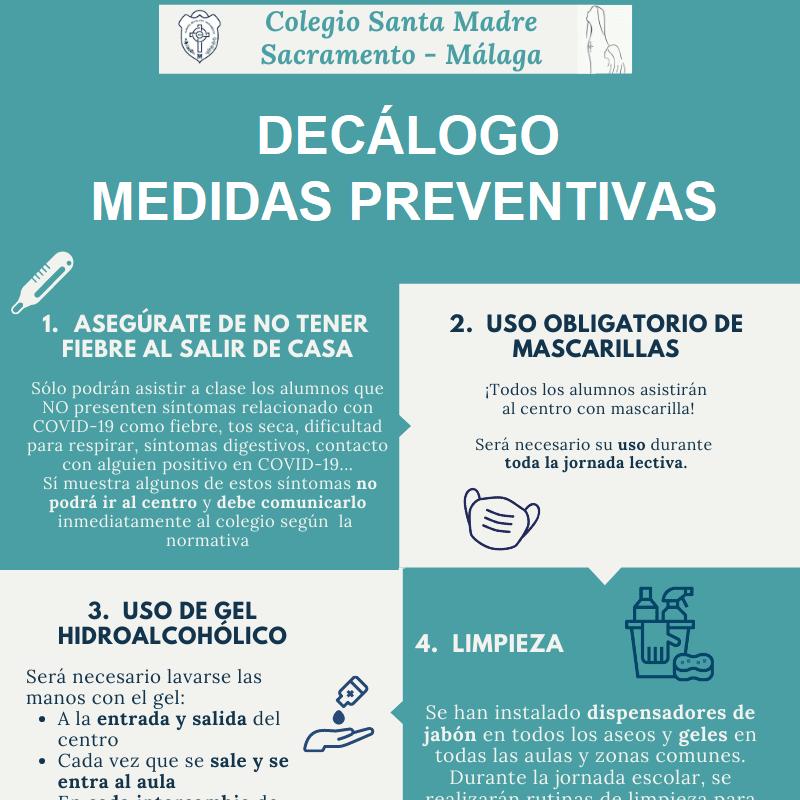 Decálogo medidas preventivas