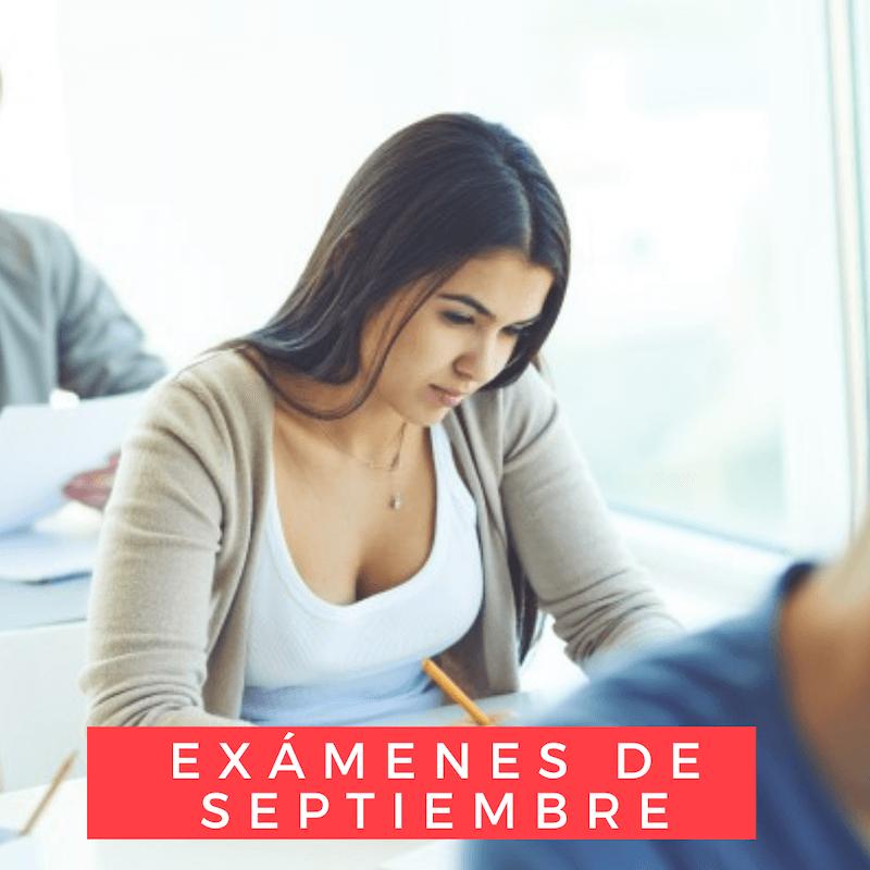 Calendario de exámenes de septiembre 21-22