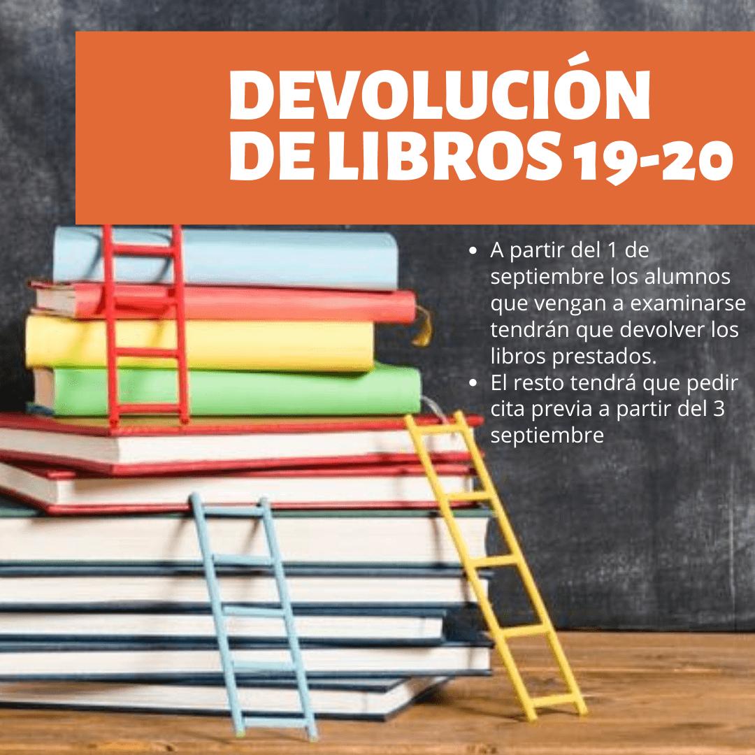 Devolución de libros 19-20